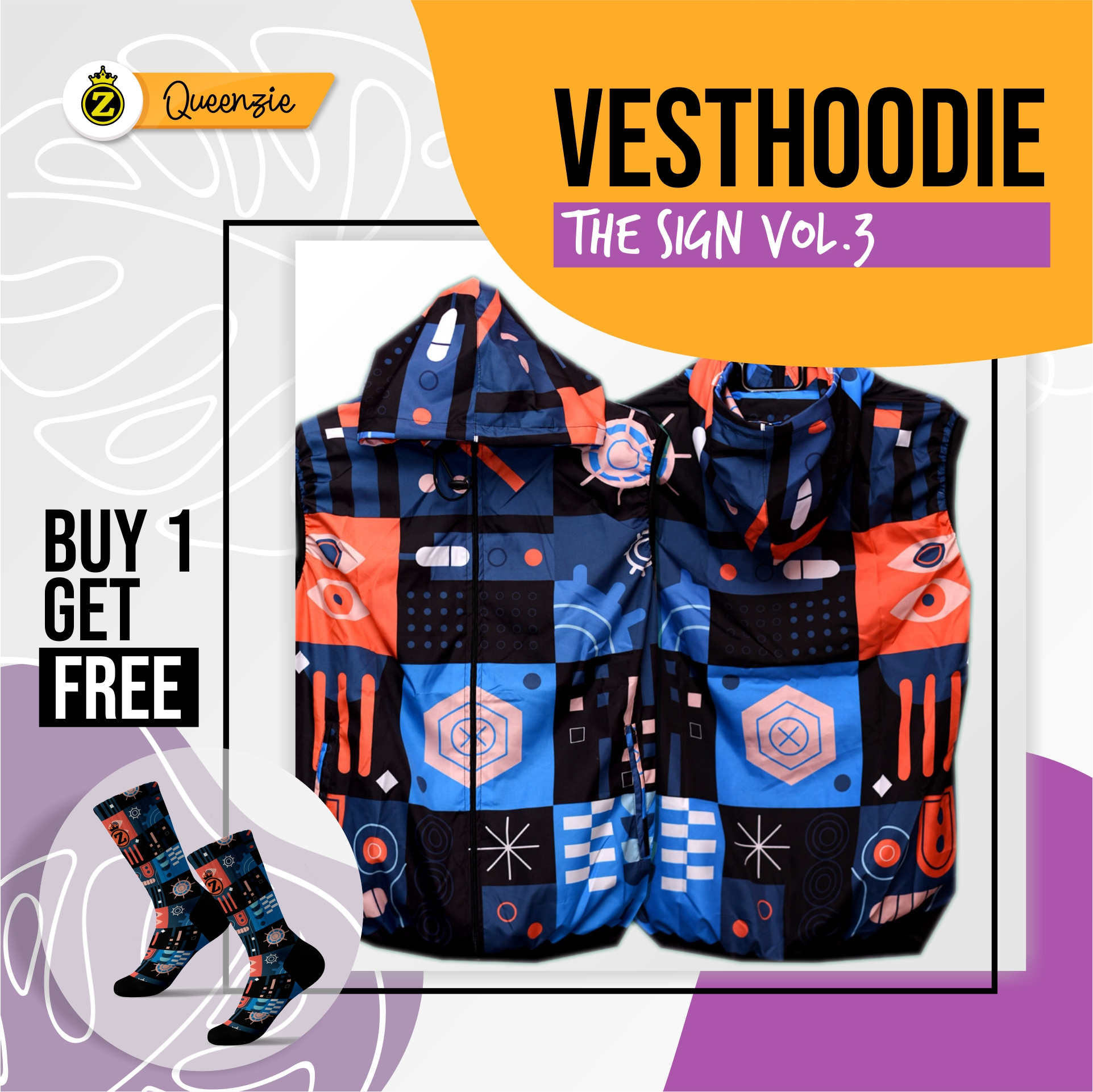 Vesthoodie The Sign Vol3 - Ziproduction