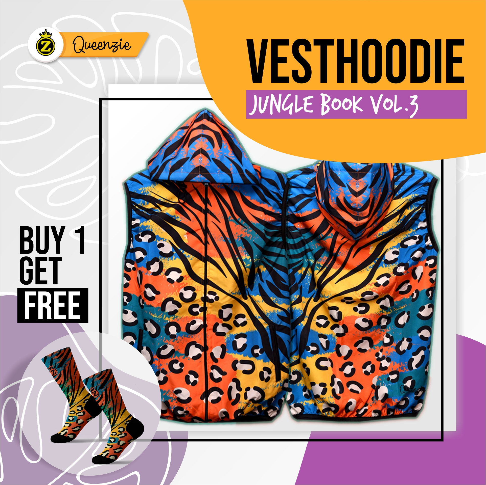 Vesthoodie Jungle Book Vol3 -Ziproduction